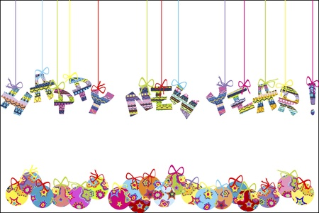 happy new year text: Happy new year background