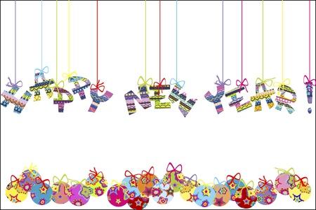 frohes neues jahr: Happy new year Hintergrund