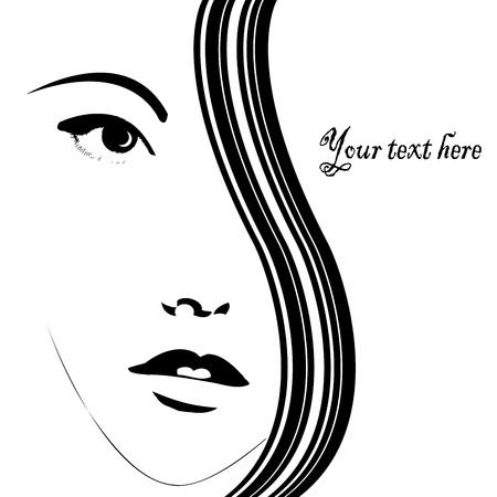 Card con volto di donna