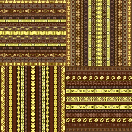 Set of African backgrounds photo