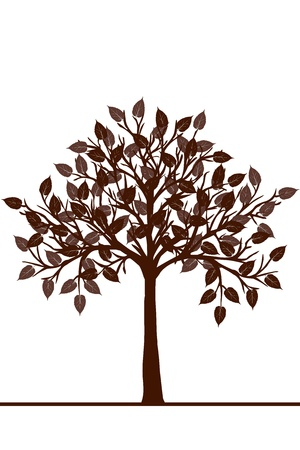 Abstract brown tree