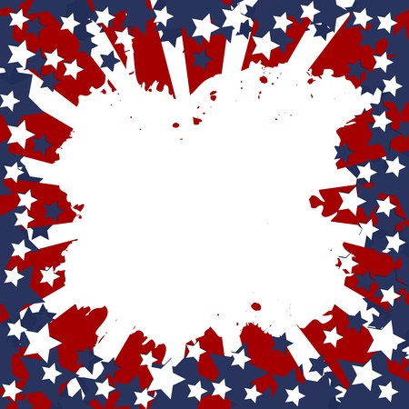 patriotic america: Background with USA flag frame for your message