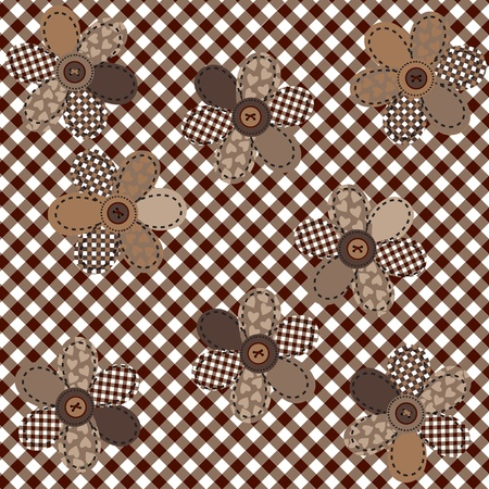 rag: Brown table cloth with flowers