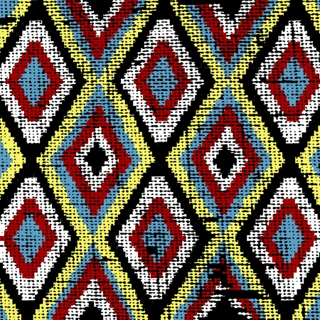 этнический: Старый этнических текстуру ткани холста