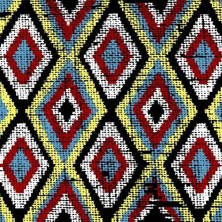 Ancien texture ethniques toile canvas Illustration