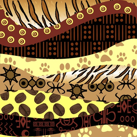 African style background Vector