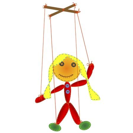 marionette: Handmade marionette, puppet on a string