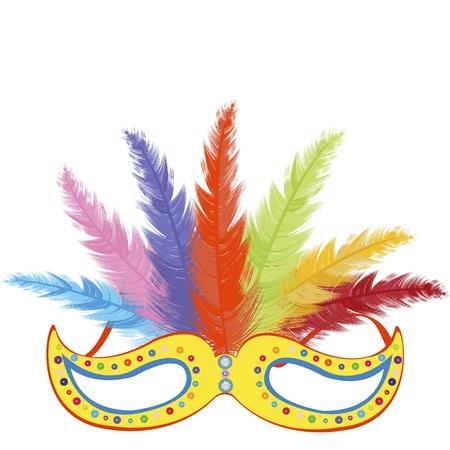 mardi grass: Party mask