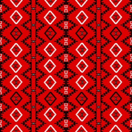 Red carpet with ethnic motifs, seamless pattern canvas Vector