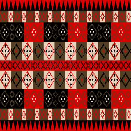 Ethnic red texture Vector