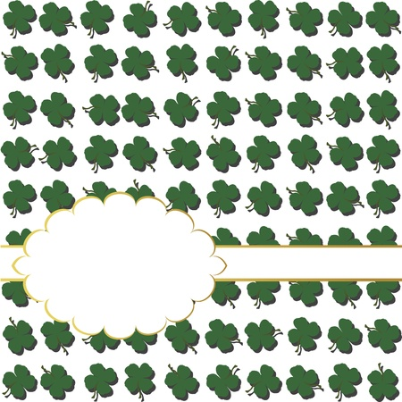 Background with shamrocks and place for text Vector