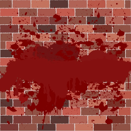 Bricks full of blood Vector