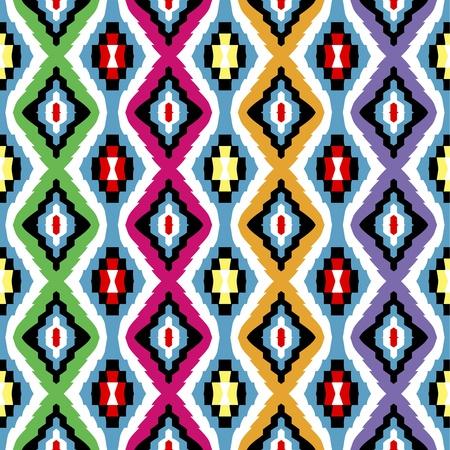 ペルシア: 着色された民族のテクスチャ  イラスト・ベクター素材