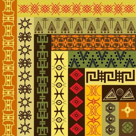 Background pattern with African motifs Vector