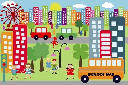 メトロポリス: 子供のための都市を落書き