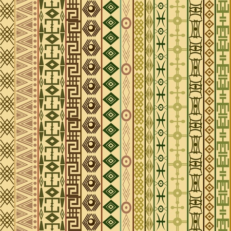 Textile fabric background with ethnic motifs Vector