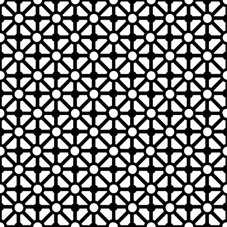 mosaic pattern: Abstract background with black elements