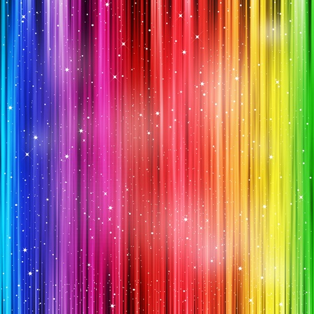 rainbow color star: Colored striped background with stardust Stock Photo