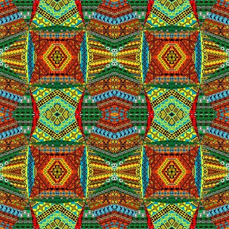 ilustraciones africanas: Composici�n de motivos africanos, textiles patchworks