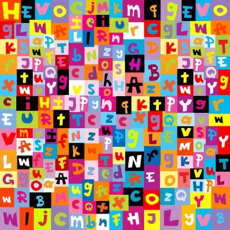 alphabet: Farbige Muster mit Buchstaben des Alphabets Illustration