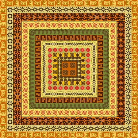 motifs: Pattern with ethnic African motifs