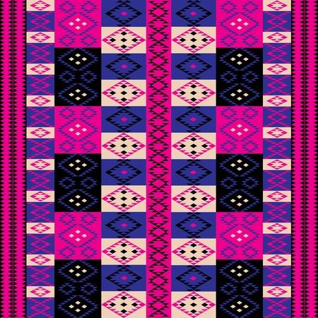 Pink ethnic motifs Vector