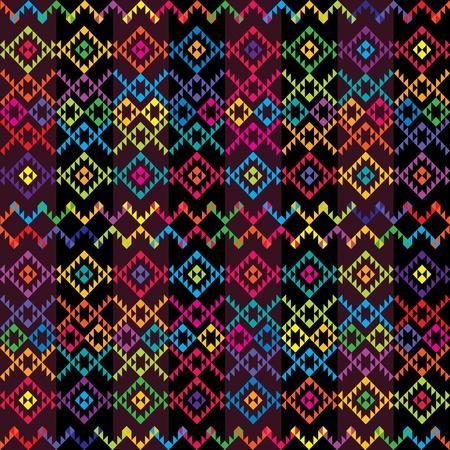 mexican art: Ethnic tappeto colorato Vettoriali