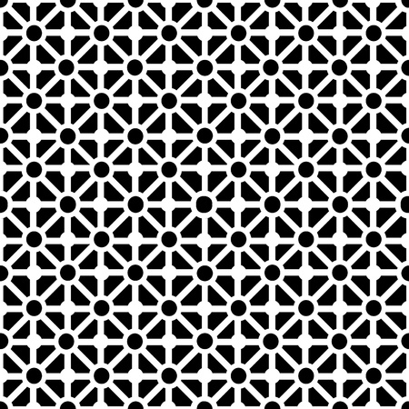 Geometric seamless pattern in black and white Vector