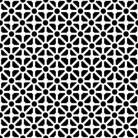 pattern: Geometrische naadloze patroon in zwart en wit Stock Illustratie