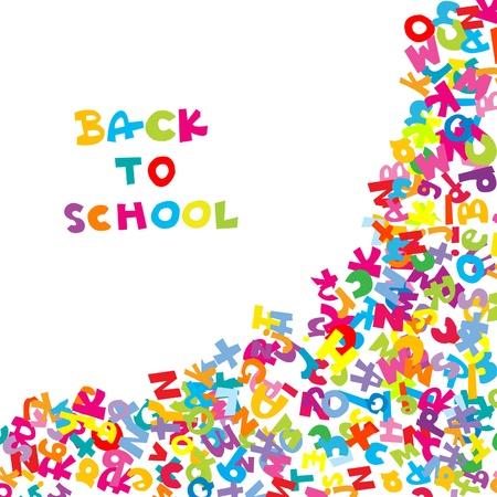escuelas: Volver a la escuela con letras de fondo