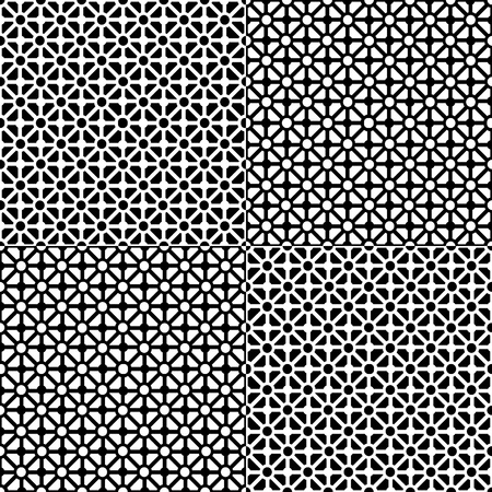 Seamless geometric pattern in black and white Vector