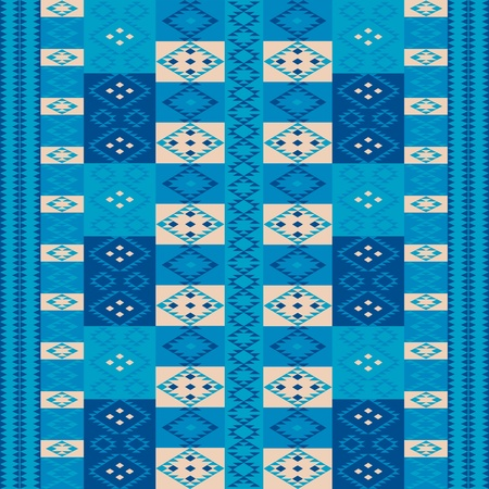 ottoman fabric: Blue carpet Illustration