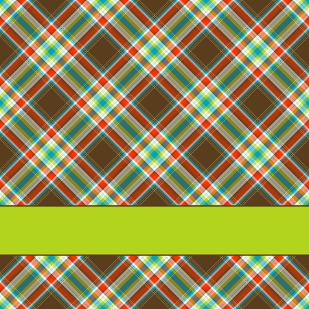 checkered wallpaper: Fabric texture background with room for your ctext, greeting card Illustration
