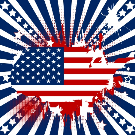 Abstract backgound with American theme Vector
