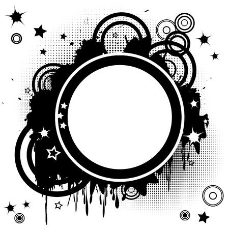 Zusammenfassung Hintergrund mit funky Kreisen