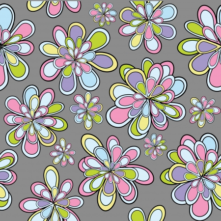 Seamles pattern with flowers in pastel tones Stock Vector - 13779865