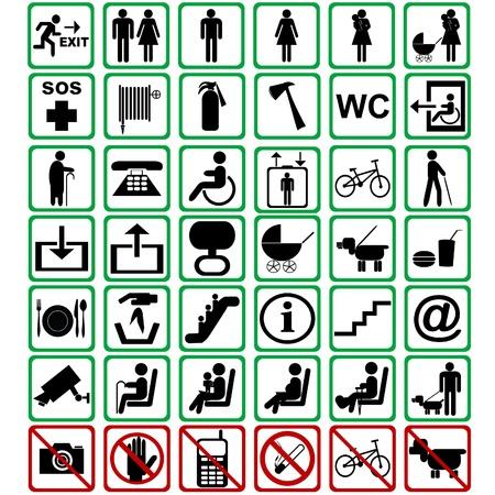 Internationale Zeichen in Transportmitteln eingesetzt Illustration