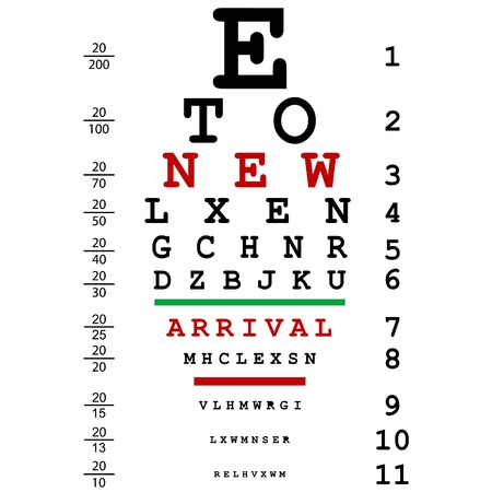 see a doctor: New arrival advertising with optical eye test used by doctors Illustration