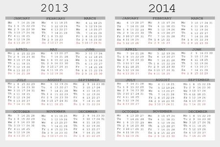 Set 2013 und 2014 Kalender für Ihr Notebook