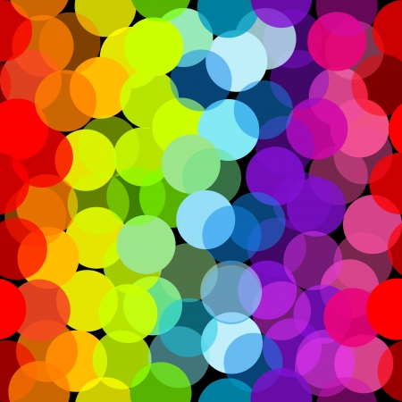 Circles seamless pattern in rainbow colors Vector