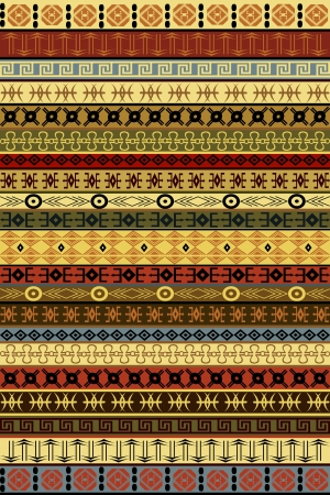 Ethnic carpet with African motifs Vector