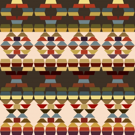 Ethnic motifs background made of stripes Vector