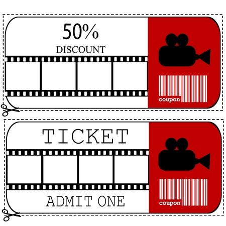 movie sign: Venta de vales y billete de entrada para la pel�cula de cine