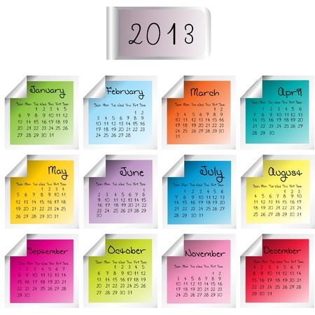 2013 calendar Stock Vector - 14830093