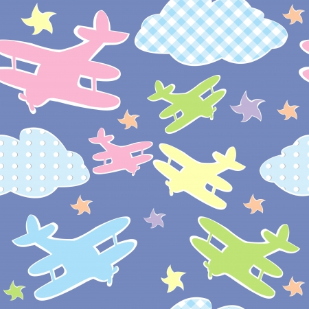 Background for kids with toy planes Vector