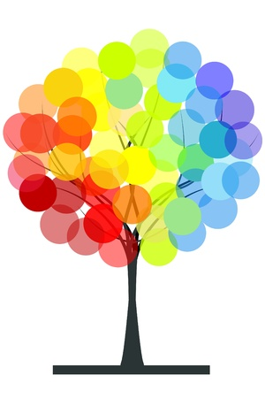 Rainbow colors tree