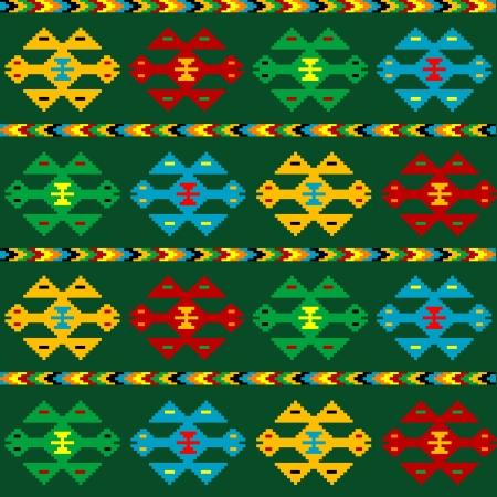 green carpet: Green carpet with ethnic motifs Illustration
