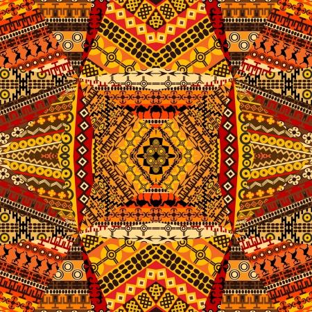 Afrikanische Motive Collage textile Patchwork gemacht