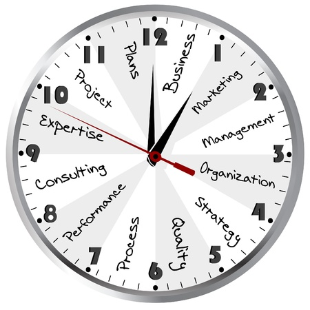 schedule: Business Time  Management concept with clock