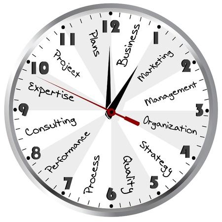 gestion del tiempo: Tiempo de Gesti�n Empresarial concepto con el reloj Foto de archivo